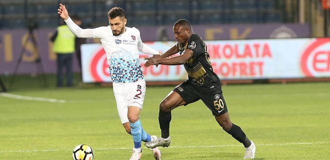 Trabzonspor, deplasmanda Osmanlıspor ile 3-3 berabere kaldı
