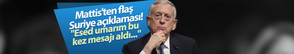 Mattis'ten Suriye açıklaması: Esed umarım bu kez mesajı aldı...