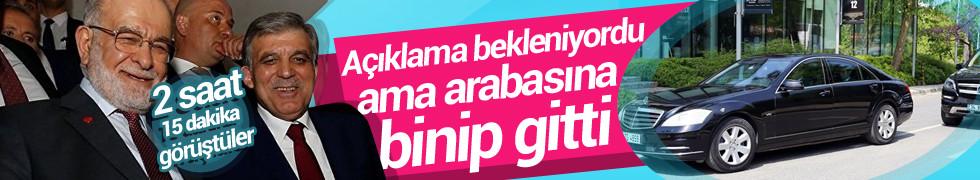 Karamollaoğlu-Gül görüşmesi bitti şimdi gözler Abdullah Gül'ün kararında