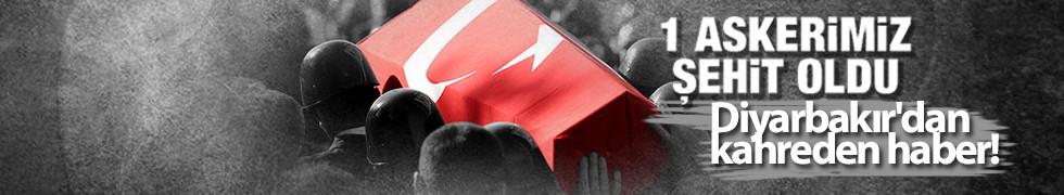 Diyarbakır'da çatışma çıktı! 1 asker şehit