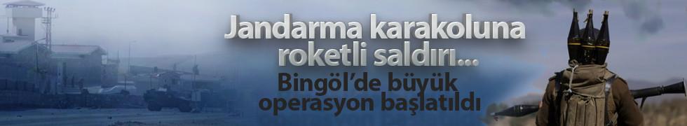 Bingöl'de jandarma karakoluna roketli saldırı...