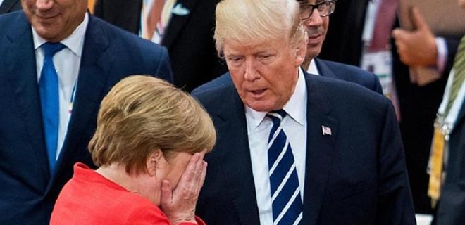 Trump'tan Merkel'e: Hükümetin sallanıyor