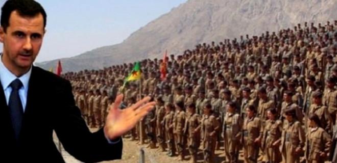 Esed ile terör örgütü PKK el sıkıştı!