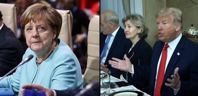 Donald Trump NATO toplantısında Almanya'yı hedef aldı