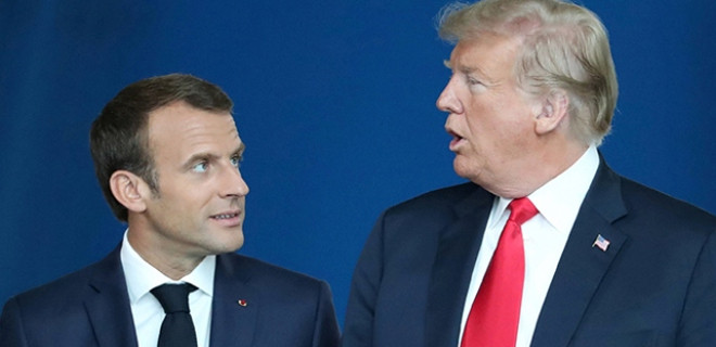 Macron'dan Trump'a yalanlama