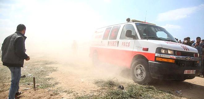 Gazze sınırındaki gönüllü bir sağlık görevlisi şehit oldu