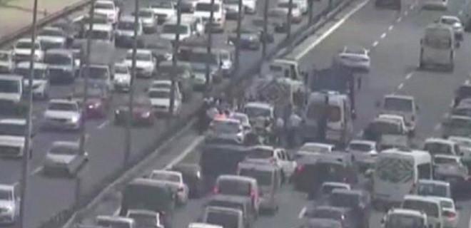 Fatih Sultan Mehmet Köprüsü'nde zincirleme kaza!