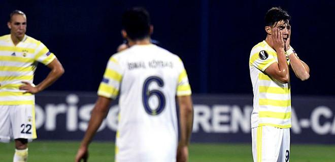 Fenerbahçe, Zagreb'de darmadağın oldu!