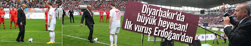 Diyarbakır'da büyük heyecan! İlk vuruş Erdoğan'dan