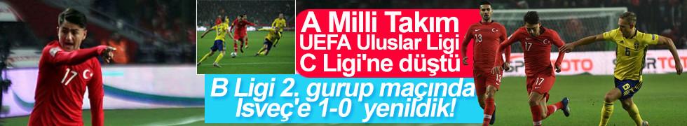 A Milli Takım,UEFA Uluslar Ligi C Ligi'ne düştü