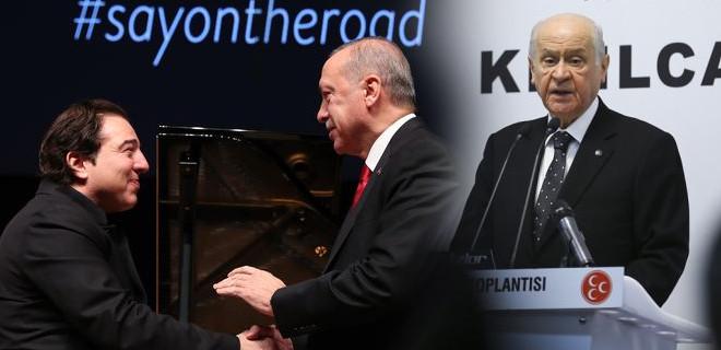 Erdoğan'ın Fazıl Say'ı dinlemesini övdü