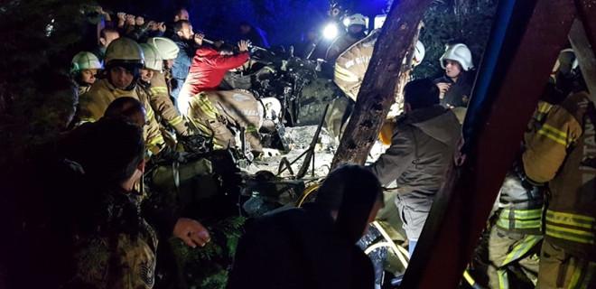 Çekmeköy'de askeri helikopter düştü...