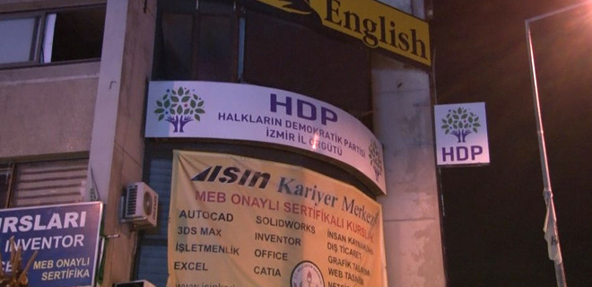 İzmir HDP İl Başkanlığı'nda yangın...
