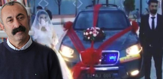 'Komünist Başkan' Maçoğlu makam aracını gelin arabası yaptı