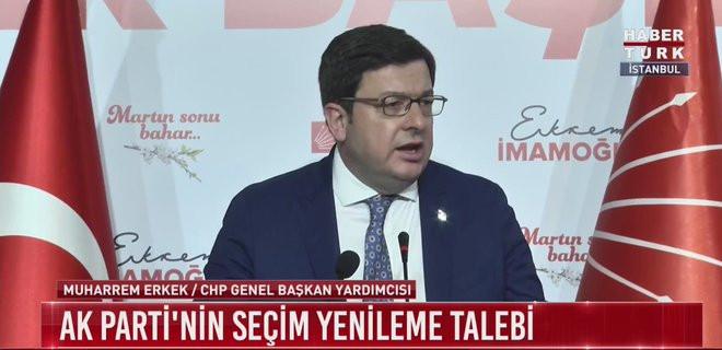 CHP'li Erkek: Seçimin yenilenmesini gerektirecek belgeleri yok