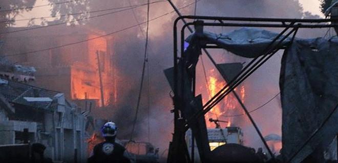 İdlib'de iftar vaktinde hava saldırısı