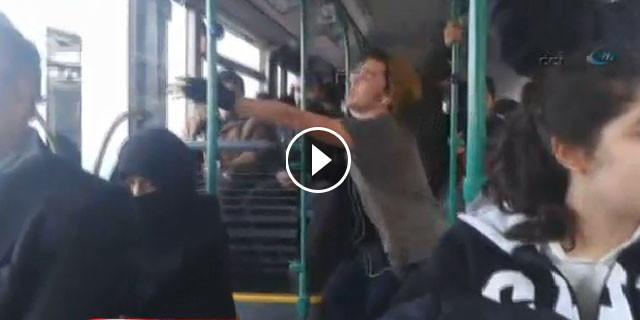 Otobüste şaşırtan olay!