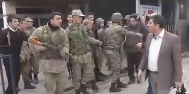Polis, orduevine girmeye çalıştı