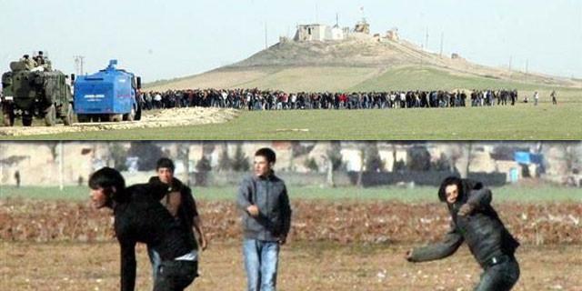 Kobani sınırında gerginlik
