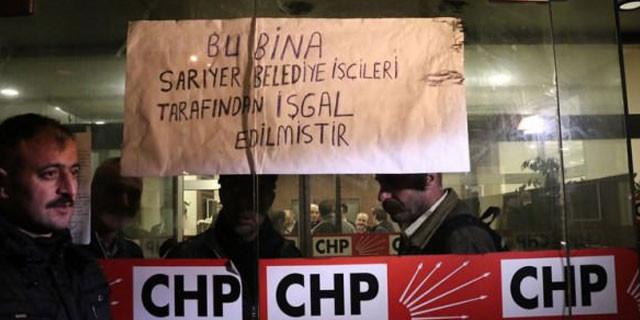 CHP İstanbul il binasını işçiler bastı