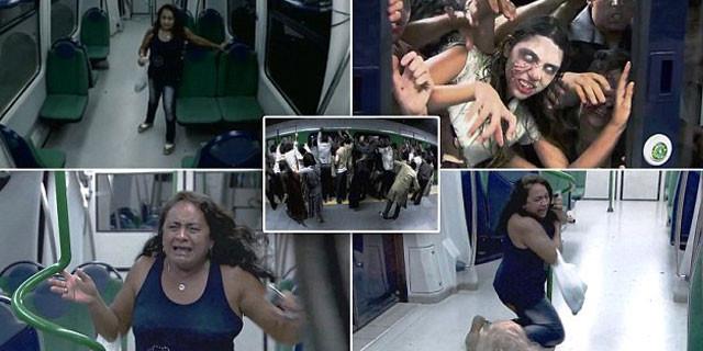 Metroda korkunç şaka!