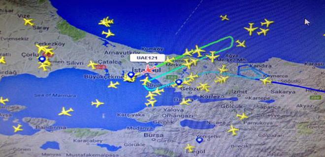 İstanbul'da hava trafiği fena karıştı