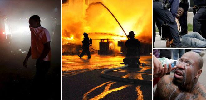 Sokaklar yanıyor