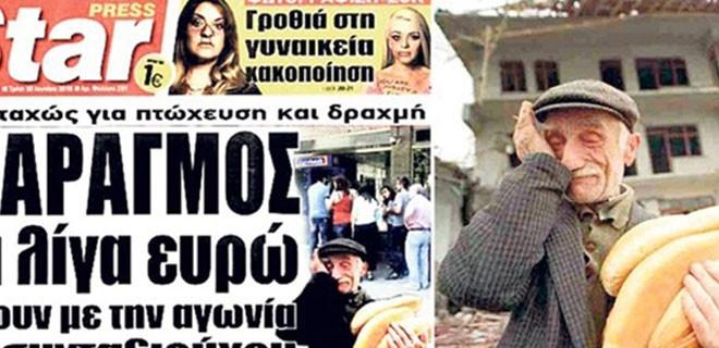 Eşref Amca Yunan gazetesine manşet oldu