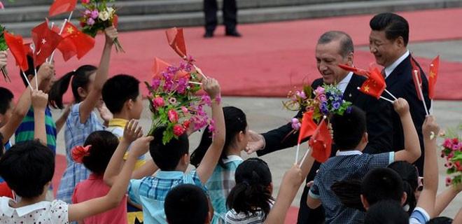 Erdoğan'ın Çin ziyaretinden kareler