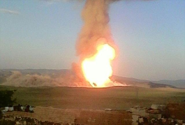 Doğalgaz Boru Hattı'nda patlama
