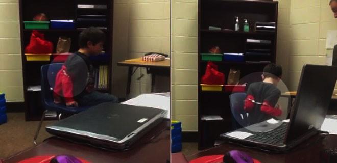 ABD polisi 8 yaşındaki çocuğa kelepçe taktı