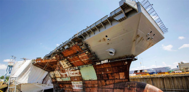Devasa gemileri böyle inşa ediyorlar