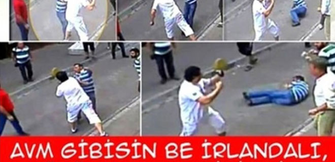 İrlandalı turist capsleri patladı