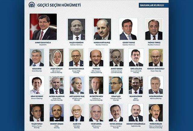 İşte yeni kabinenin üyeleri