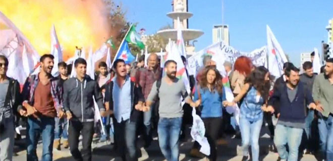 İşte Ankara'daki patlamanın yaşandığı o an...