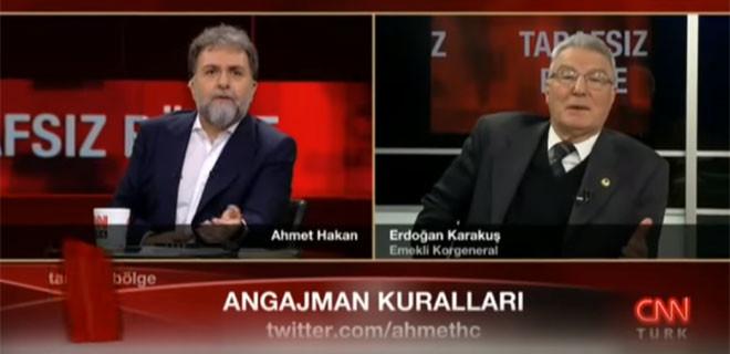 Komutandan Ahmet Hakan'a ihlal cevabı