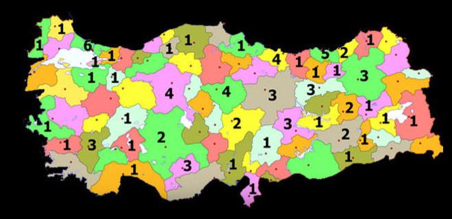 Türkiye'yi bu iller yönetti