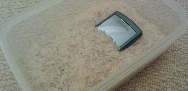 Cep telefonunda pirinç mucizesi!
