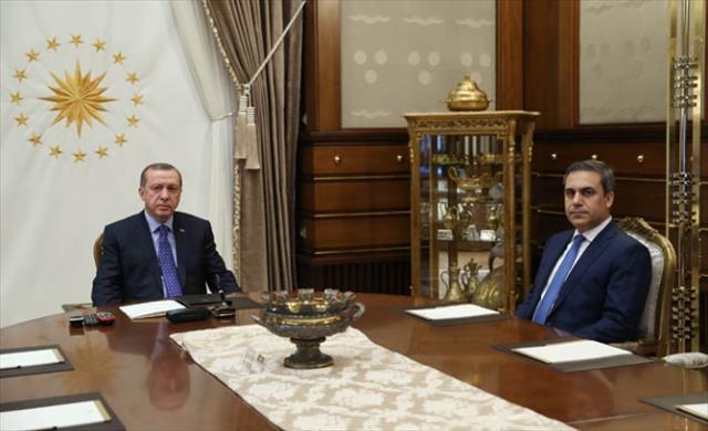 MİT Müsteşarı Beştepe'de
