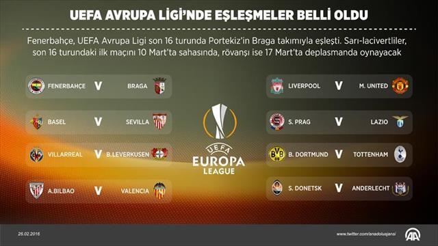 UEFA Avrupa Ligi'nde son 16 turu kurası çekildi