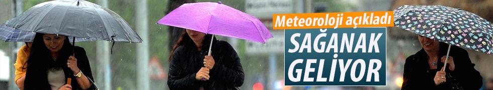 Pazartesiden itibaren yağmur geliyor!