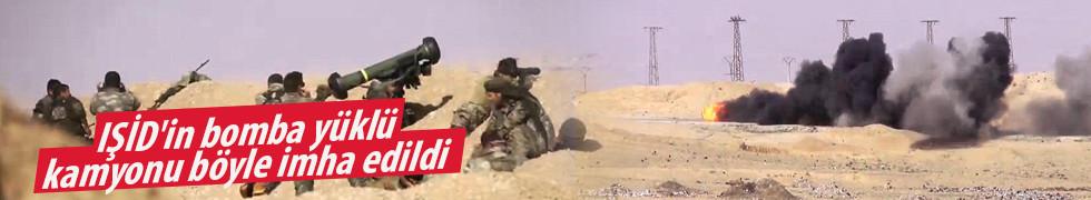 IŞİD'in bomba yüklü kamyonu böyle imha edildi