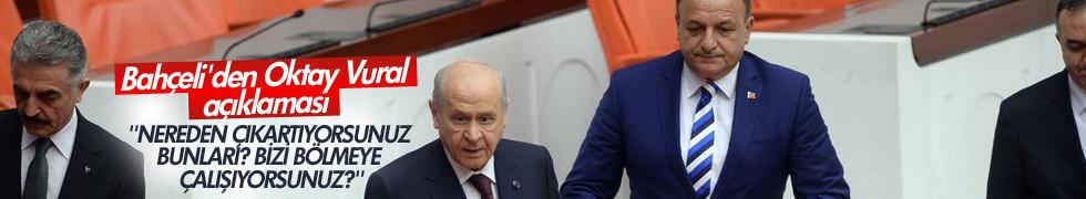 MHP lideri Devlet Bahçeli'den Oktay Vural açıklaması