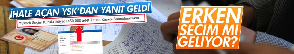 YSK'dan erken seçim iddialarına cevap