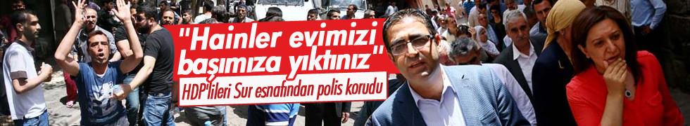 HDP'ye büyük şok! Sur esnafından polis korudu