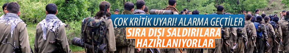 PKK sıra dışı saldırılara hazırlanıyor