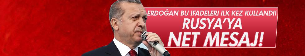 Erdoğan: Biz ülke olarak suçlu sandalyesinde oturmuyoruz