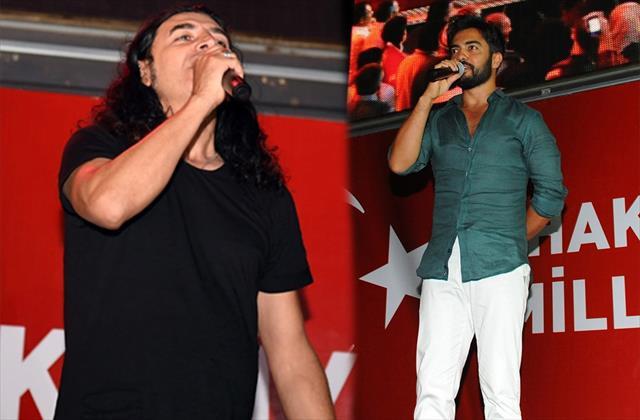 Murat Kekilli ve Yusuf Güney demokrasi nöbetinde