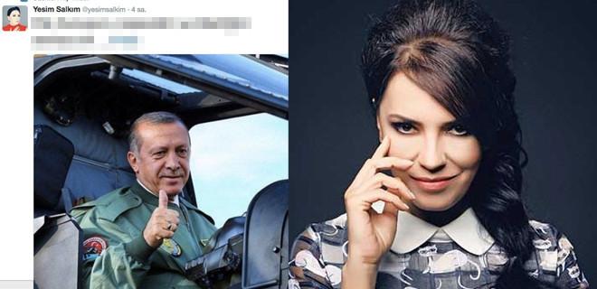 Yeşim Salkım'ın Erdoğan paylaşımı rekor kırdı!