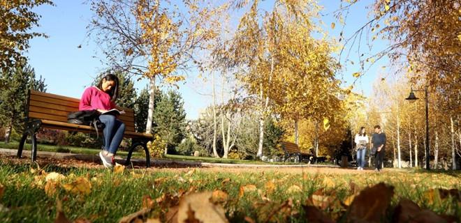 Erzurum'da sonbahar güzelliği